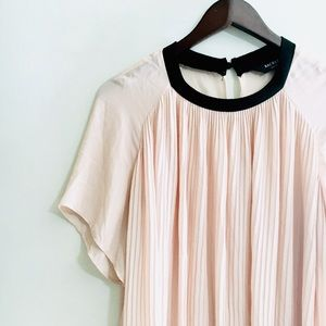 • rachel roy blush pink blouse with cute collar •